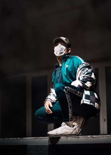 sneakers with a mask